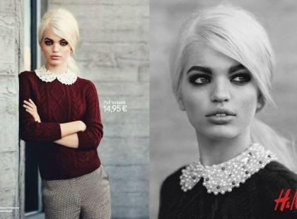 Grzeczna dziewczynka w stylu jesiennego H&M