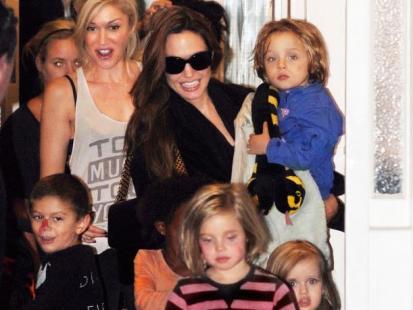 Gwen Stefani i Angelina Jolie - Dziecięce party