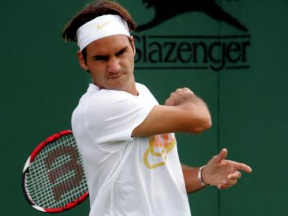 Gwen Stefani i Gavin Rossdale dopingują Rogera Federera