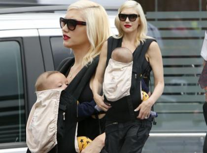 Gwen Stefani na spacerze z synkiem. Maluch rośnie jak na drożdżach