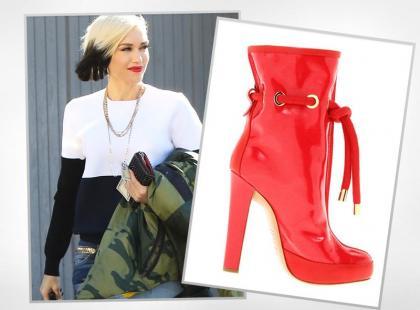 Gwen Stefani nosi boskie botki w ekstrawaganckim stylu