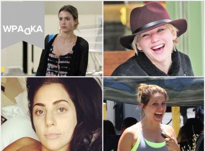 Gwiazdy bez makijażu w codziennym looku