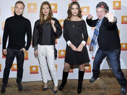 Gwiazdy na konferencji prasowej serialowego hitu