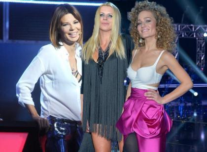 """Gwiazdy w studiu """"The Voice"""" podczas ćwierćfinanłu muzycznego show"""