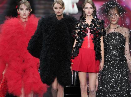 Haute Couture w Paryżu: czerwień i czerń od Giorgio Armaniego