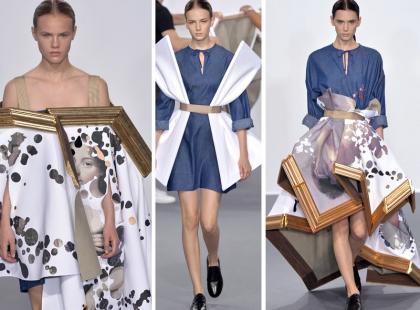 Haute Couture w Paryżu: modelki owinięte w sztukę