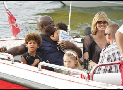 Heidi Klum i Seal wakacjach w Saint Tropez