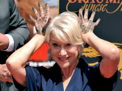 Helen Mirren odcisnęła swoje dłonie i stopy