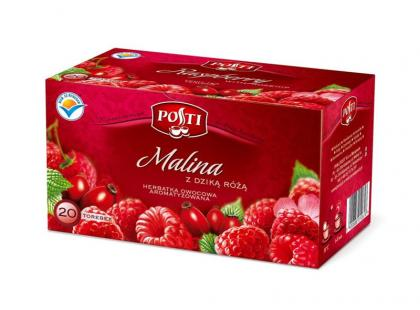 Herbata Malinowa z dziką różą Posti