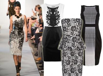Hit: czarno-białe wzory na sukienkach. Propozycje już od 65zł