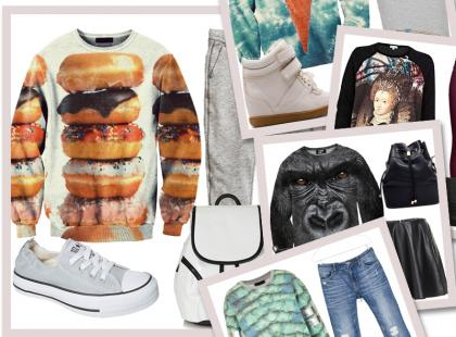 Hit jesieni: Modne stylizacje z bluzami z fotonadrukiem