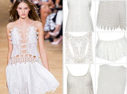 Hit lata 2015: ubrania z białej koronki
