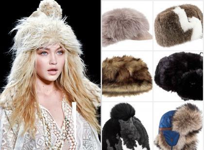 Idą mrozy! 11 futrzanych czapek - jak je nosić?