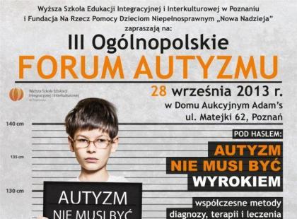III Ogólnopolskie Forum Autyzmu
