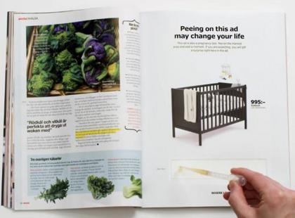 IKEA zachęca do sikania na gazetę z ich reklamą w środku. Dlaczego???