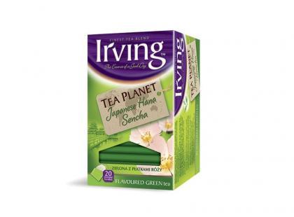 Irving Tea Planet Japanese Hana Sencha z płatkami róży