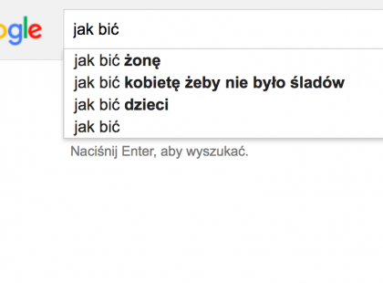Jak bić? Żonę, dziecko, kobietę - tego naprawdę szukamy w Google?!