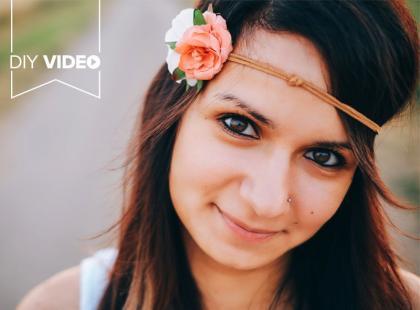 Jak samodzielnie zrobić romantyczną opaskę na włosy - DIY