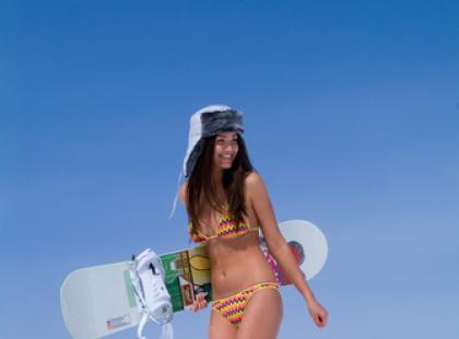 Jak stanąć pierwszy raz na snowboardzie?