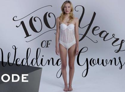 Jak zmieniała się moda ślubna na przestrzeni 100 lat? Zobacz video!
