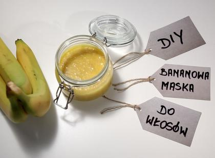 Jak zrobić bananową maskę do włosów - DIY