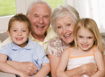 dziadkowie, babcia, dziadek, dziecko