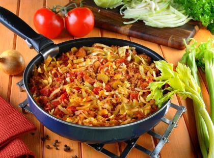 Jambalaya - kociołek z ryżem i kapustą