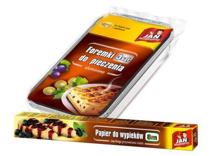 Jan Niezbędny - foremki aluminiowe i papier do pieczenia