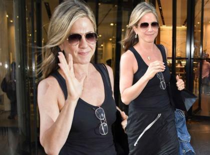 Jennifer Aniston wybrała się na zakupy. Postawiła na luźną kreację