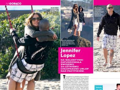 Jennifer Lopez bawiła się ze swoim chłopakiem nad Pacyfikiem