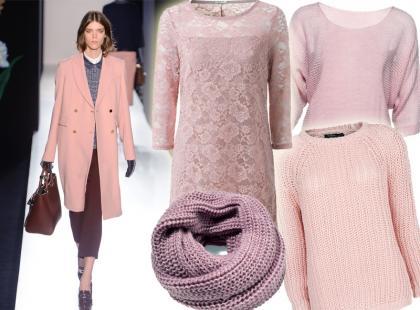 Jesienna garderoba w pudrowych odcieniach różu