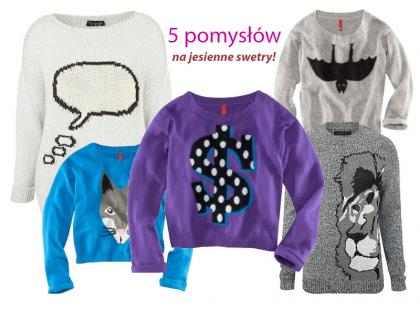 Jesienne swetry z nadrukami na 5 sposobów!