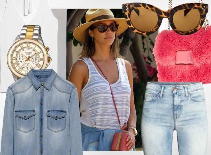 Jessica Alba i pomysł na letni look z wyprzedaży