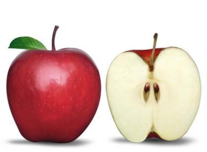 Jestem jabłkiem. A ja gruszką.