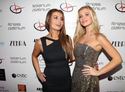 Joanna i Marta Krupa na imprezie krakowskiego Fitness Platinium