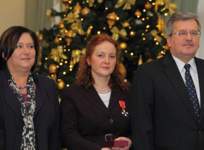 Joanna Luberadzka odznaczona Krzyżem Kawalerskim
