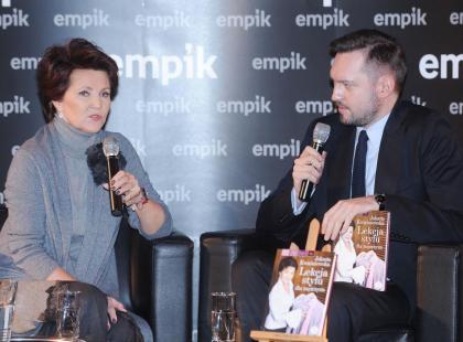 Jolanta Kwaśniewska promuje swoją książkę