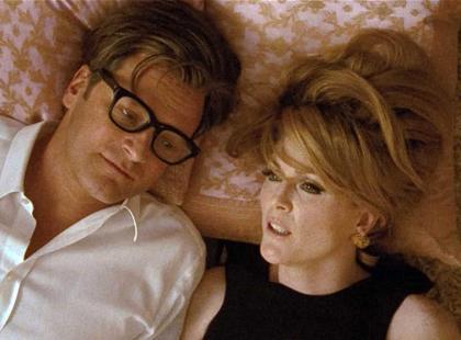 """Julianne Moore i Colin Firth w filmie """"Samotny mężczyzna"""""""