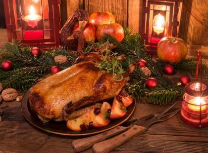 Kaczka nadziewana makaronem na Boże Narodzenie