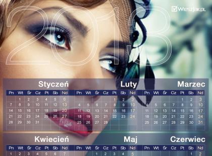 Kalendarze 2013 - kobiece i stylowe - do wydruku