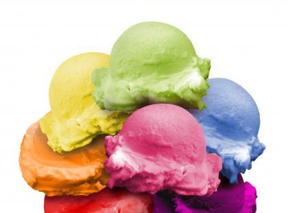 Kaloryczność lodów i innych deserów - plansze do wydrukowania