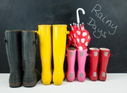 Kalosze i zabawy w czasie deszczu