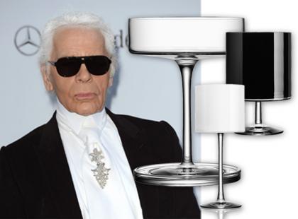 Karl Lagerfeld i jego designerskie kieliszki