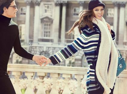Karlie Kloss w kampanii Stefanel na sezon jesień/zima 2012/2013