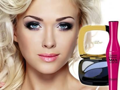 Karnawałowy makijaż dla blondynki