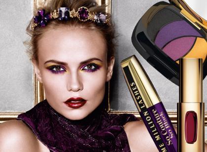 Karnawałowy makijaż w mocnych kolorach