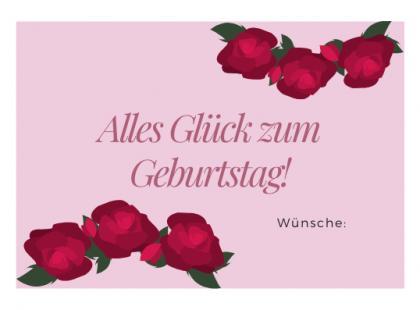 Kartka urodzinowa po niemiecku