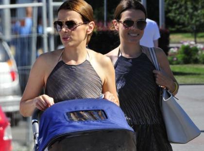 Kasia Glinka na wakacjach z synem