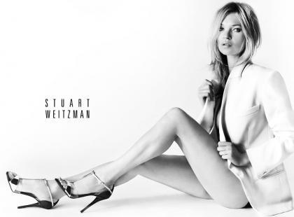 Kate Moss gwiazdą kampanii Stuart Weitzman - kulisy