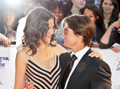 Katie Holmes i Tom Cruise na rozdaniu The National Movie Awards 2010